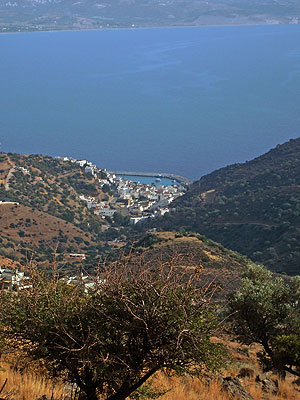 Agia Galini from the mountains